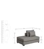 Xander Lounger Sofa in Grey Colour by Madesos