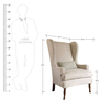 Xandrea Wingback Chair in White Colour by Madesos