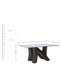 Xena Eight Seater Dining Table in Walnut Colour by @home