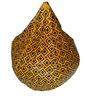 XXL Printed Bean Bag in Black & Yellow Leatherette by TJAR