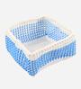 Yamini Plastic Blue & White 5 L Storage Basket
