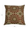 Yamini Multicolour Cotton 16 x 16 Inch Floral Embroidered Cushion Cover