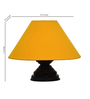 Yashasvi Contemporary Yellow 10 x 10 x 7 Inch Table lamp
