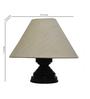 Yashasvi Cream Poly Cotton Table Lamp