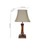 Yashasvi Quacker Off-white Wooden Table Lamp