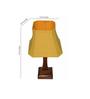 Yashasvi Qualdi Yellow Wooden Table Lamp