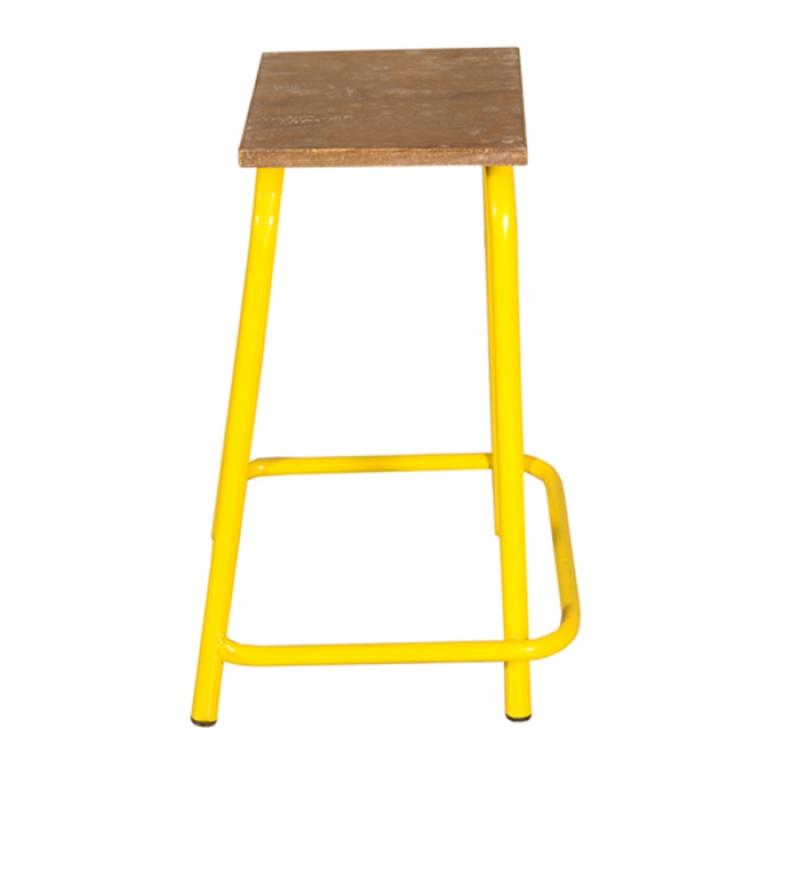 mint yellow iron stool by mudra online stools furniture