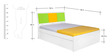 Young America Single-Size Bed in Yellow, Green & White Colour by Alex Daisy