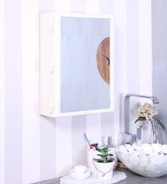 Zahab White Plastic Bathroom Cabinet