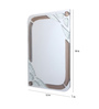 Arundel Bath Mirror in Brown and White by Amberville
