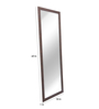 Zahab Brown MDF Decorative Framed Standing Mirror