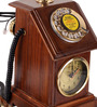 Aboyne Retro Telephone in Brown by Amberville