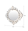 Aber Decorative Mirror in Silver by Amberville
