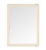 Zahab Sonata Cream Plastic Single Door Bathroom Cabinet