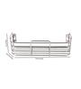 Zahab Silver Stainless Steel Bathroom Shelf