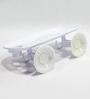 Zahab Whites Plastic Bathroom Accessories 1 Pc