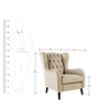 Zaletha Wingback Chair in Beige Colour by Madesos