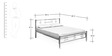 Zeplin Metallic Double Bed in Silver Colour by Nilkamal