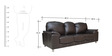 Zest Leatherette Three Seater Sofa in Black Colour by Crystal Furnitech