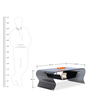 Zee Curved Tempered Glass Table with Glass Shelf in Black Colour by Durian