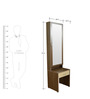 Zegna Dressing Table in Wenge 7 White Colour by Crystal Furnitech