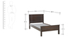 Zina Single Bed in Walnut Finish by HomeTown