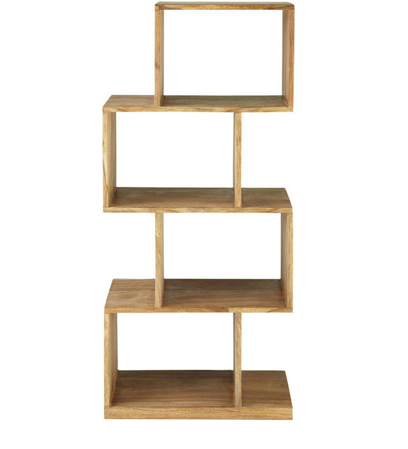 zig zag display cum book shelf by wood dekor by wood dekor online modern furniture. Black Bedroom Furniture Sets. Home Design Ideas
