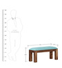 Fallon Bench in Provincial Teak Finish by Woodsworth