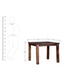 Hays Four Seater Dining Table in Provincial Teak Finish by Woodsworth