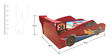 Zoom Car Bed in Red Colour by HomeTown