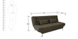 Zuri Sofa Bed In Dark in Brown Colour  by Furny