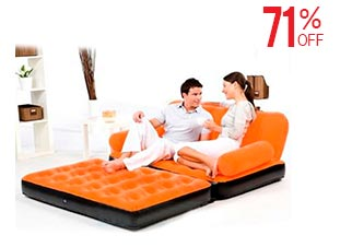 5 in 1 Inflatable Velvet Air Sofa