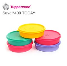 Tupperware Set of 5 Containers