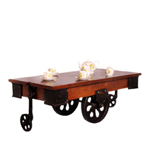 Mint Iron Cart Coffee Table