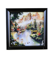 Go Hooked Serene Sight Art Print -With Frame
