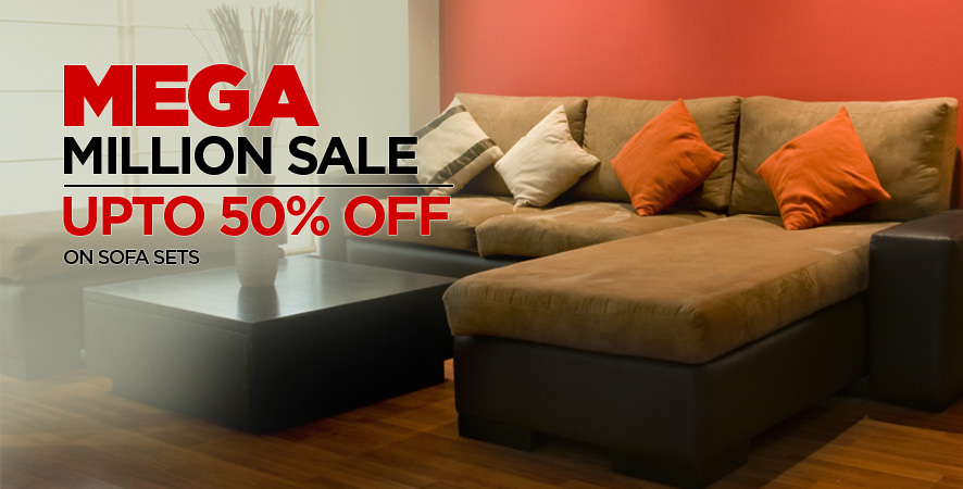 Mega Million Sale upto 50% off on sofa sets