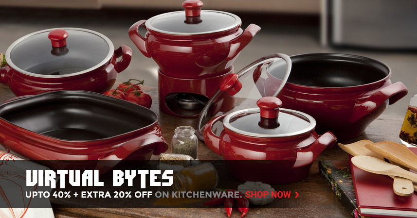 Virtual Bytes | Upto 40% + Extra 20% off on Kitchenware