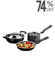 LifeLong 3 Pcs Cookware Set